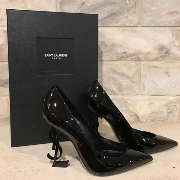 43e49588b8 Saint Laurent Shoes | Yves Opyum Opium 110 Black Patent | Poshmark